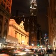 Stock Photo: 42nd street by night