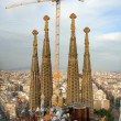 Building Sagrada Familia, Barcelona - Stock Photo