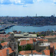 Golden horn pano from Galata tower — Stock Photo