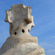 Casa Mila' top cross, Barcelona - Stock Photo
