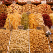 Candied fruits in market, Barcelona — Stock Photo