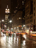 5th avenue by night — Stock Photo