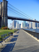 Brooklyn Bridge park, New York — Stockfoto