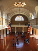 Ellis Island main hall — Stock Photo