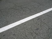 White line on asphalt — Stock Photo