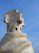 Casa Mila' top cross, Barcelona — Stock Photo