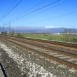 Stock Photo: Railroad in countryside