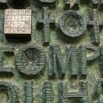 Magic square, Sagrada Familia gates — Stock Photo