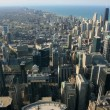 Stock Photo: Chicago aerial view