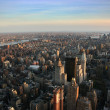 Stock Photo: Aerial view over east lower Manhattan