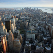 Stock Photo: Aerial view over lower Manhattan