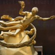 Gilded Prometheus statue — Stock Photo