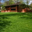 Stock Photo: Frank Lloyd Wright designed house