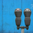 Parkmeters over blue — Stock Photo #2469512
