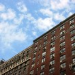 Stock Photo: Old brick buildings, Manhattan, New York