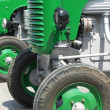 Green vintage tractors detail — Stock Photo #2469997