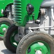 Green vintage tractors detail — Stock Photo