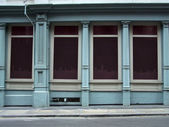 Blank shop windows on a street — Foto de Stock