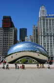 Il millennium park cloud gate — Foto Stock