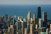 Chicago aerial view, Hancock center — Stock Photo