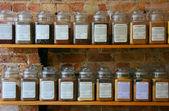 Frascos de especiarias — Fotografia Stock