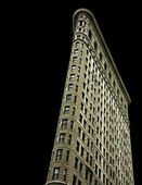 Flatiron building on black — Stock Photo