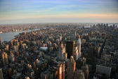 Aerial view over east lower Manhattan — Stock Photo