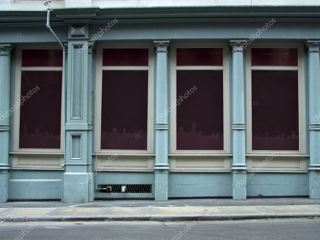 Blank shop windows on a street, Manhattan, New York  Stock Photo #2463530