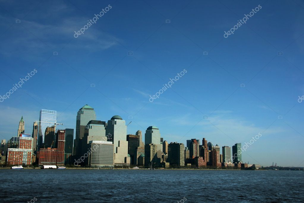 World Trade Center from Hudson river, New York  Stock Photo #2464084