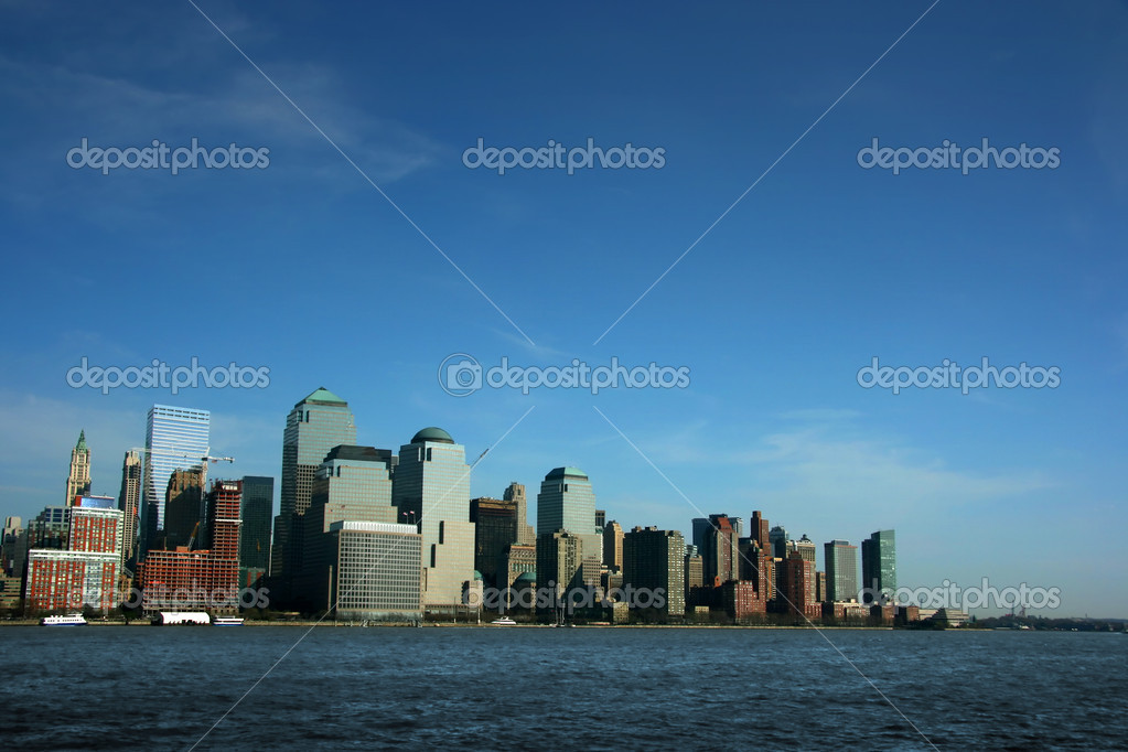 World Trade Center from Hudson river, New York  Photo #2464084