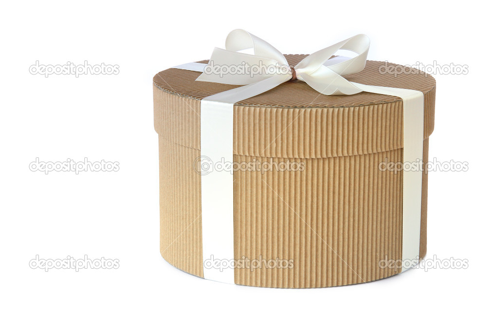 Коробка для подарка круглая