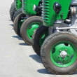 Royalty-Free Stock Photo: Green vintage tractors