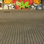Two cats graffiti, vertical — Stock Photo