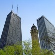 Chicago water tower and Hancock center — Stock Photo #2470862