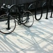 Stock Photo: Chained bike