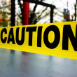 Caution tape — Stockfoto