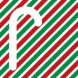 Royalty-Free Stock Photo: Candy cane silhouette