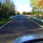 Road motion blur — Stock Photo