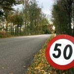 Speed limit horizontal — Stock Photo