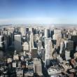 Aerial panoramic view over Manhattan — Stock Photo