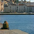 Couple in Trieste - Stock Photo