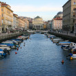Canal grande in Trieste - Stock Photo