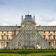 Stock Photo: Louvre Museum entrance