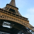 Eiffel tower from below — Stock Photo