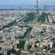 Paris aerial and Eiffel tower — Stock Photo