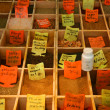 Spices on display — Stock Photo