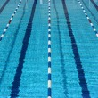 Stock Photo: Empty pool lanes