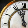 About twelve on old clock face — Stock Photo #2475438