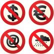 Do not signs - Stock Photo