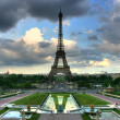 Stock Photo: Eiffel tower from Trocadero